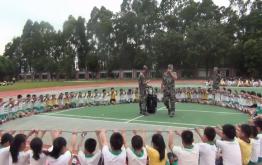 洪梅镇第一小学阳光少年训练活动
