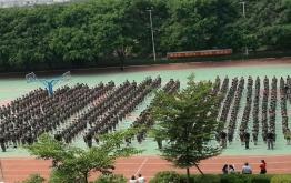 振安中学新生军训圆满结营